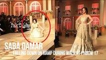 Saba Qamar Falling Down During Ramp Walk at PHBCW 17 - Day 3 - YouTube
