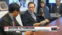 Cheong Wa Dae formally invites former President Lee Myung-bak to PyeongChang Olympics