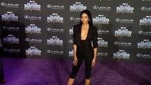 "Laura Harrier ""Black Panther"" World Premiere Purple Carpet"