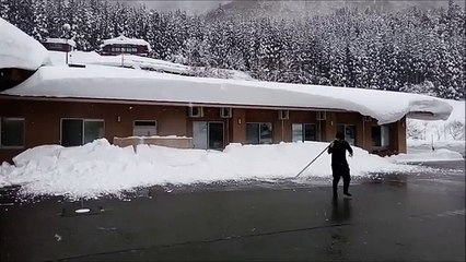 Japan cleaning snow