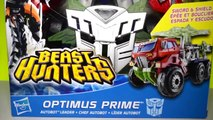 Beast Hunters and Transformers Robots in Diguise Optimus Prime Robot to Truck, Sideswipe