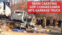 Amtrak train carrying GOP lawmakers to retreat collides with truck in Virginia