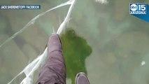 ICE WALKING! Man walks on frozen Lake Baikal in Russia - ABC15 Digital