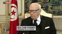 """Béji Caïd Essebsi : """"Entre la France et la Tunisie, ça a toujours marché"""" - 01/02/2018"""