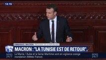 """Macron : """"La page du printemps tunisien n'est pas tournée (...) Mais la Tunisie est bien de retour"""""""