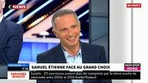 """Regardez Samuel Etienne très ennuyé au moment d'être confronté au """"Grand Choix"""" de Jean-Marc Morandini - Regardez"""