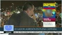 Chávez: Recientes agresiones buscan afectar la imagen de Correa