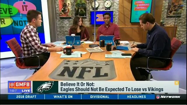 Eagles Should Not Be Expected To Lose vs Vikings : Believe It Or Not | GMFB