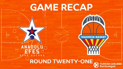 EuroLeague 2017-18 Highlights Regular Season Round 21 video: Efes 82-66 Valencia