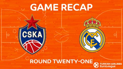 EuroLeague 2017-18 Highlights Regular Season Round 21 video: CSKA 93-87 Madrid