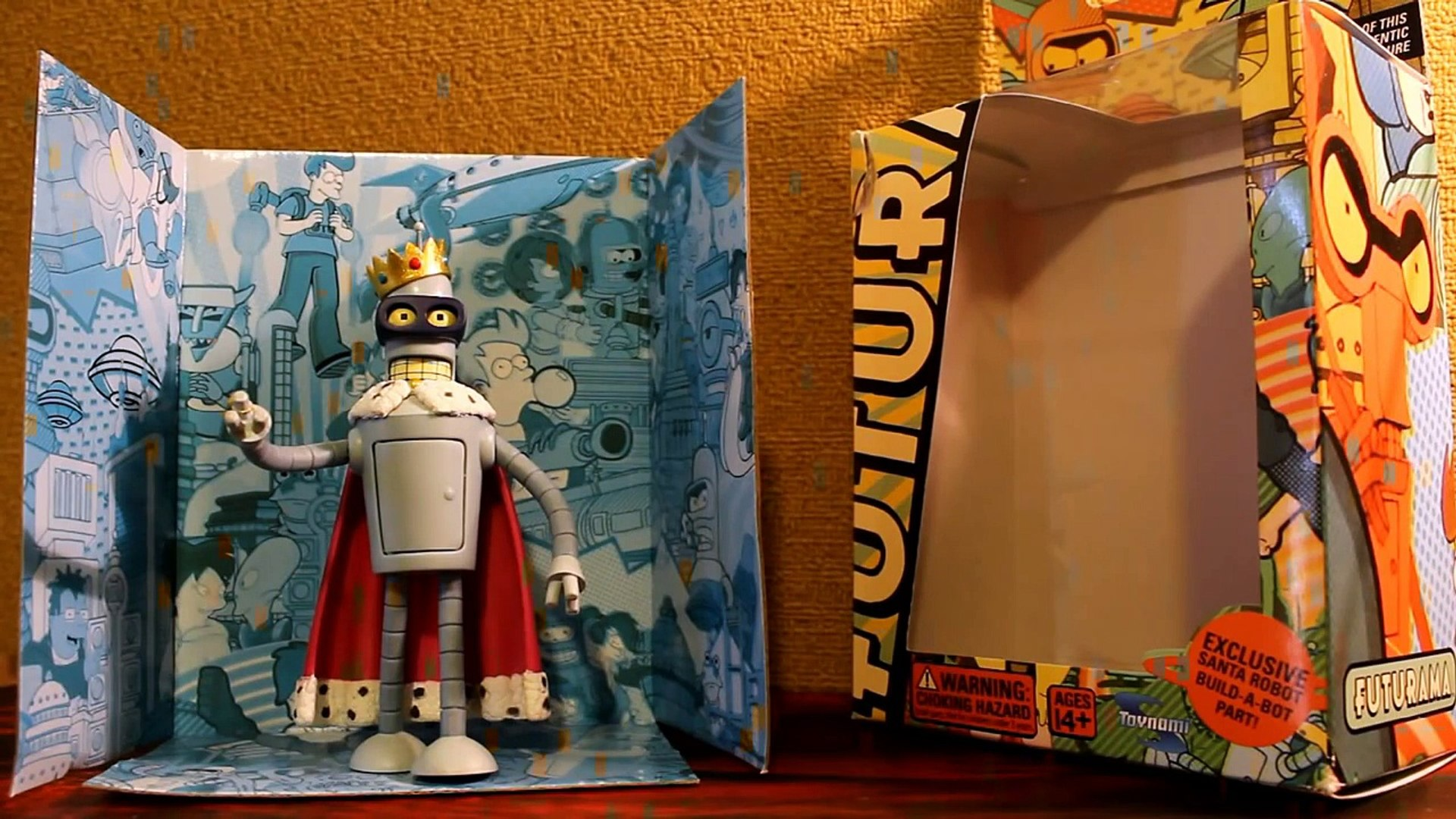 CGR Toys - FUTURAMA SUPER KING! (Bender) Figure Review