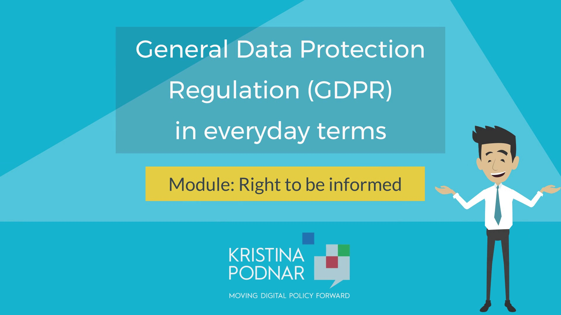 GDPR: Right to Be Informed