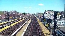NYC Subway Train Ride Front Car View