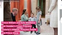 Prince William and Kate Middleton Visit Tiny Swedish Royals Princess Estelle and Prince Oscar