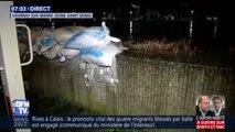 À Gournay, la Marne déborde et franchit les murs anti-crue