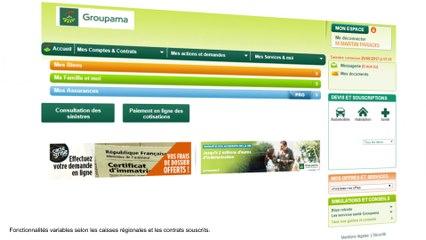 Espace Client Groupama.fr - Consulter un contrat Prévoyance