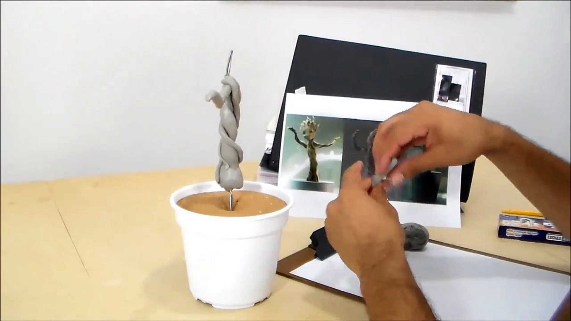 Tutorial Mini Groot, do filme Guardiões da Galáxia - Dicas de Cosmaker