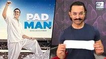 Aamir Khan Poses With Sanitary Pad In 'PadMan Challenge' | Akshay Kumar Sonam Kapoor