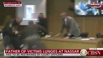 Procès Larry Nassar : le père de victimes se jette sur lui en pleine audience (Vidéo)