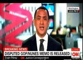MUST Watch CNN Breaking news: Trump White House released the GOP/Nunes Memo