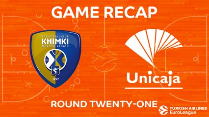 EuroLeague 2017-18 Highlights Regular Season Round 21 video: Khimki 68-66 Unicaja