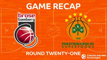 EuroLeague 2017-18 Highlights Regular Season Round 21 video: Bamberg 95-74 Panathinaikos