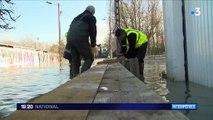 Inondations : à Gournay-sur-Marne, murs anti-crues submergés et caves inondées par la Marne