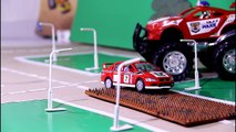 Police Chase & CRASH with Racing Cars Monster Trucks & Police Cars Video For Kids