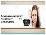 Lexmark Printer Telefoonnummer Nederland: +31-202253723