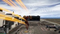 The Flash Saves People From Plane Attack! The Flash is Back (GTA 5 Flash Mod)