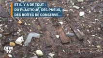Du plastique, des pneus... les images impressionnantes des déchets retenus à Méricourt (Yvelines)
