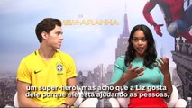 Homem Aranha - Entrevista com Tom Holland e Laura Harrier - IGN Entrevistas