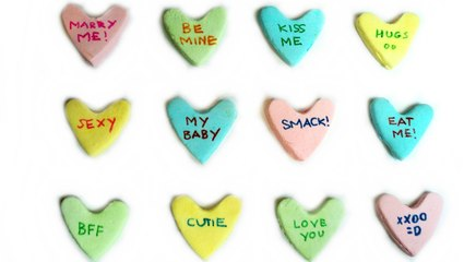 VALENTINE'S DAY CANDY CONVERSATION HEARTS