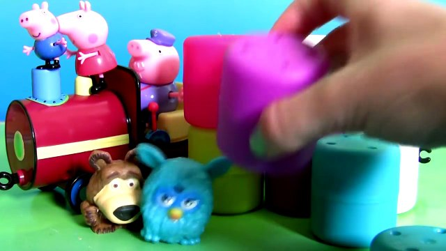 O Trem do Vovô da Peppa Pig Mashems Fashems Surpresa Furby Masha Sofia Disney Frozen Anna Elsa