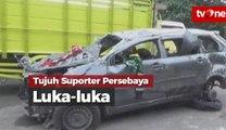 Minibus Pecah Ban, Tujuh Suporter Persebaya Alami Luka-luka