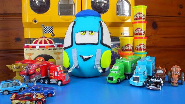 Play Doh Surprise Eggs: Disney Pixar Cars Play Doh Surprise Egg with Thomas, Shopkins by ToyRap