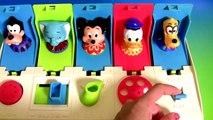 Brinquedos Mickey Mouse Pop up Pals Surpresa com o Pato Donald, Pluto, Dumbo e Pateta Disney toys