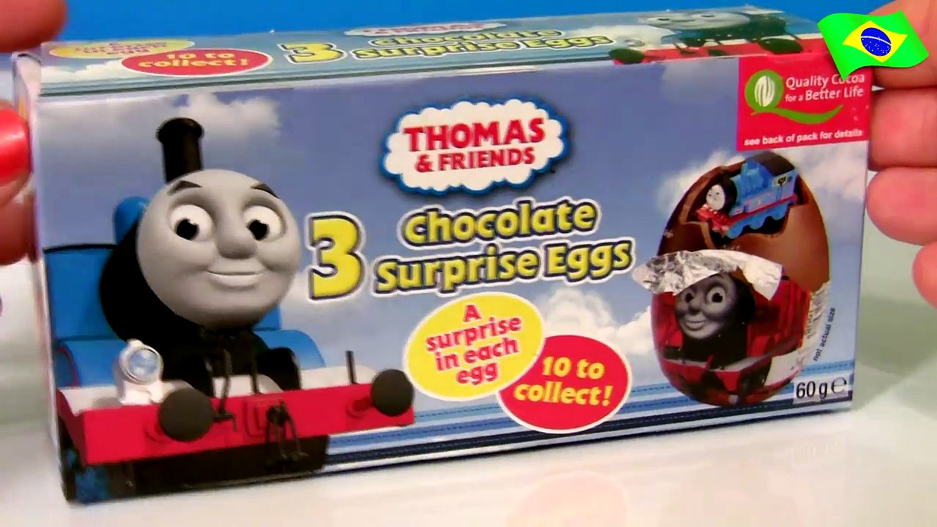 Surprise Eggs Thomas Friends Ovos De Chocolate Surpresa Do