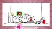 свинка пеппа, coloring peppa pig, развивающий мультик, пеппа на русском, учим цвета, learning colors