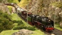 Réseau HO avec des locomotives à vapeur et trains à vapeur - Une vidéo de Pilentum Télévision sur le modélisme ferroviaire avec des trains miniatures
