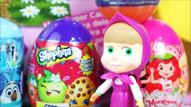 MASHA AND BEAR Opening Surprises Eggs Masha and the Bear Surprise Eggs Frozen Hello Kitty Shopkins