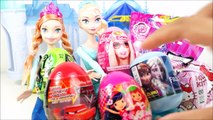 ELSA FROZEN Opening eggs Surprise Barbie My Little Pony Kinder Joy and much more in Portuguese