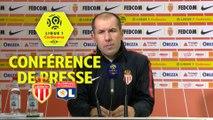 Conférence de presse AS Monaco - Olympique Lyonnais (3-2) : Leonardo JARDIM (ASM) - Bruno GENESIO (OL) / 2017-18