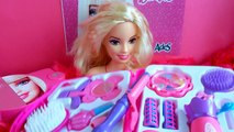 BARBIE DIFFERENT HAIR STYLE TUTORIALS AND MAKEUP SET HAIR BRUSH GLITTERS