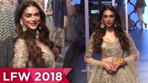Aditi Rao Hydari Princess Avatar For Payal Singhal | Aditi Rao Hydari at Lakme Fashion Week 2018