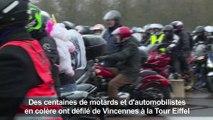 Des milliers de motards et automobilistes manifestent contre les 80 km/h