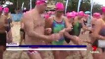 Libby Trickett breaks record for fastest 1km swim while pregnant