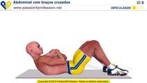 Exercícios abdominais: Abdominal com braços cruzados