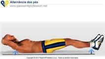 Alternância dos pés (abdominais inferiores)