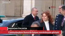 Erdoğan, İtalyan mevkidaşıyla bir araya geldi